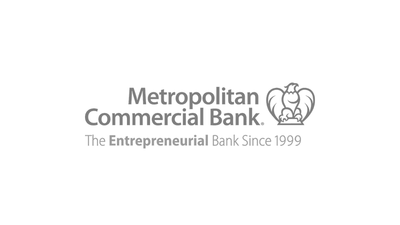 Metropolitan Commercial Bank logo.