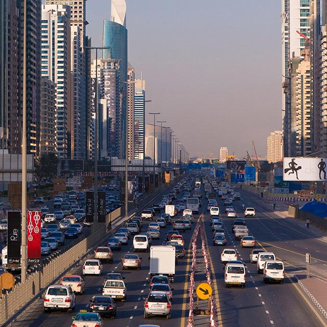 Dubai traffic and transport